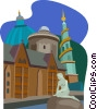 Vector Clipart graphic  of a European buildings