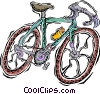 Vector Clip Art image  of a bike