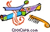 curling iron Vector Clipart picture