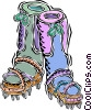 Vector Clip Art graphic  of a mountain climbing boots