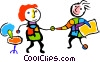 Vector Clip Art image  of a business partners shaking