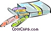 Vector Clip Art graphic  of a crayons
