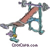 Vector Clip Art graphic  of a weight equipment