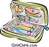 pencil case Vector Clipart image