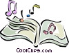 music book Vector Clipart graphic