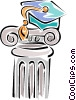 pedestal Vector Clipart graphic