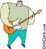person playing guitar Vector Clip Art image