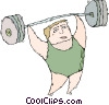 weight lifter Vector Clipart graphic