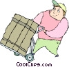 Vector Clip Art picture  of a delivery person