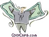 Vector Clip Art graphic  of a dollar bills