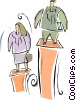 Vector Clip Art picture  of a pedestal