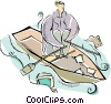 Vector Clip Art graphic  of a row boat