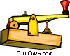 Vector Clip Art image  of a telegraph