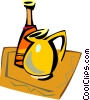 Vector Clip Art graphic  of a jug with vase