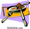 bowl of soup Vector Clip Art picture
