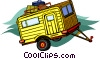 Vector Clipart illustration  of a trailer