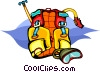 Vector Clipart illustration  of a back pack