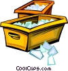 Vector Clip Art image  of a mail box