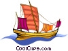 Vector Clipart illustration  of a pirate ship