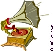 Vector Clipart picture  of a old record player