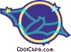flying bat Vector Clipart image