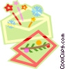 greeting card and envelope Vector Clipart picture