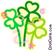 St. Patrick's Day shamrocks Vector Clipart illustration