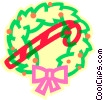 Vector Clip Art picture  of a Christmas wreath
