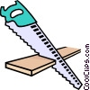 saw, handsaw Vector Clipart graphic