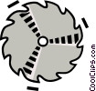 Vector Clipart illustration  of a saw blade