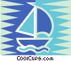sailboat Vector Clip Art graphic