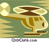 Vector Clipart image  of a helicopter