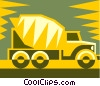Vector Clip Art picture  of a cement truck