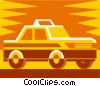 Vector Clipart picture  of a taxi