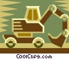 backhoe, construction equipment Vector Clip Art graphic