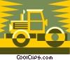 Vector Clipart image  of a steamroller