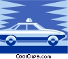 Vector Clipart illustration  of a taxi