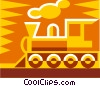 Vector Clipart image  of a train