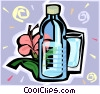 Vector Clipart image  of a Bottled water