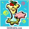 Vector Clipart picture  of a Pudding dessert