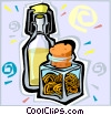 Vector Clip Art graphic  of a oil and spice