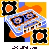 audio cassette tape Vector Clipart picture