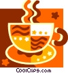 Vector Clip Art graphic  of a cup of coffee