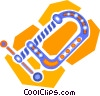 clamp Vector Clipart graphic
