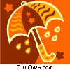 Vector Clip Art graphic  of a umbrella