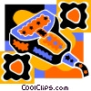 Vector Clip Art image  of a hand scanner