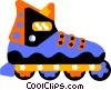 roller blades Vector Clipart graphic
