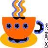 Vector Clipart picture  of a coffee