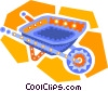 Vector Clip Art graphic  of a wheel barrow