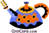 Vector Clipart graphic  of a teapot